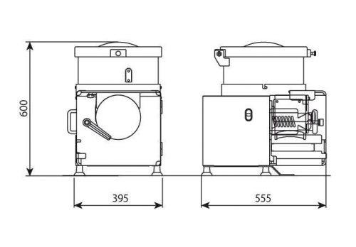 Котлетный автомат C/E 652 габариты